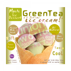 Buo Mochi Green Tea 6x26g