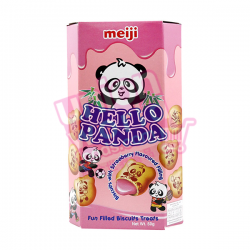 Meiji Hello Panda Biscuits Strawberry 50g
