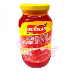 Buenas Coconut Gel In Syrup (Red) 340g