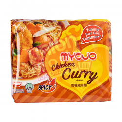 Myojo Chicken Curry Noodles 5x80g